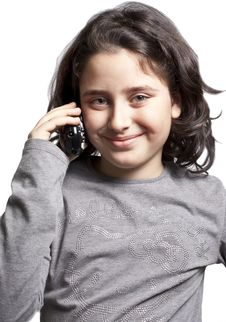 Free Teen With The Phone Royalty Free Stock Image - 13519446