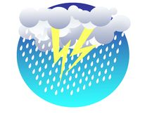 Free Thunderstorm Colored Illustration Stock Images - 13519734