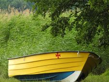 Free Yellow, Boat, Boats And Boating Equipment And Supplies, Grass Royalty Free Stock Photos - 135105468