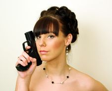 Free Girl With Pistol Stock Photography - 13523612