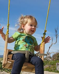 Free Swinging Little Girl Stock Image - 13532121