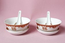 Free Chinese Marriage Bowl Royalty Free Stock Image - 13535696