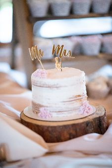 Free Cake With Cake Toppers Royalty Free Stock Image - 135338186