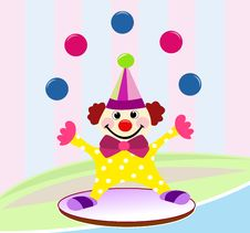 Free Funny Circus Clown Stock Image - 13546891