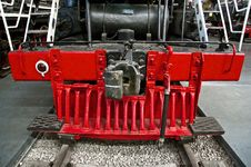 Free Red Track Cleaner Of The Steam Train Royalty Free Stock Photography - 13547407