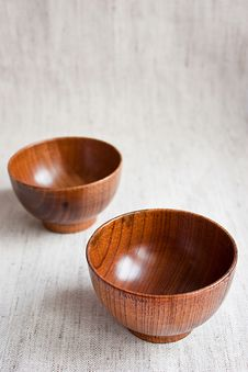 Free Wooden Bowls Royalty Free Stock Images - 13549469