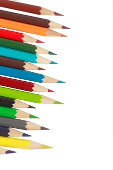 Free Pencils On A White Background Royalty Free Stock Photo - 13549985