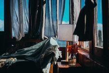 Free White Table Lamp Beside Window Stock Photos - 135444713