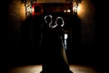 Free Silhouette Of Man And Woman Royalty Free Stock Photos - 135444828