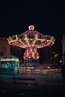 Free Turned-on Carousel Stock Image - 135444841