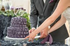 Free Man And Woman Holding Cake Stand With Cake On Top Royalty Free Stock Photos - 135444978