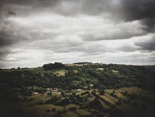 Free Bird S Eye View Of Mountain Under Cloudy Sky Royalty Free Stock Images - 135445229