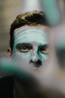 Free Photo Of Man With Face Paint Stock Photos - 135496713
