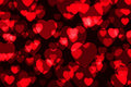 Free Red Heart Shining Bokeh Stock Images - 13553284