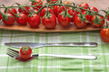 Free Tomatoes Fork And Knife Stock Images - 13553664