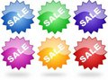 Free Sale Stickers Stock Image - 13557071