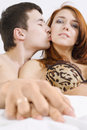 Free Loving Couple On Bed Royalty Free Stock Images - 13558869