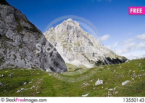 Peak of Sonnenspitze Stock Photo