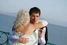 Free Happy Newly-married Couple Stock Photo - 13550670