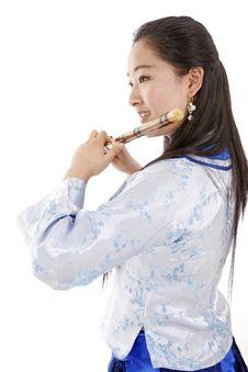 Female Musician Stock Photo
