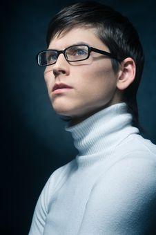 Free Young Man In Glasses Stock Images - 13550994
