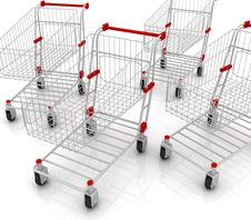 Free Shopping Carts Stock Photography - 13551282