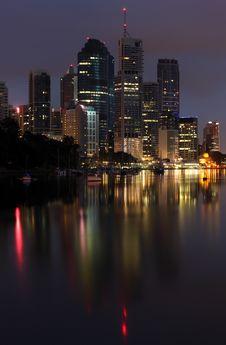 Free Brisbane Reflection Royalty Free Stock Photos - 13551468