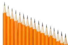 Free Pencils In A Row Royalty Free Stock Photo - 13551995
