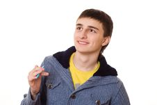 Free Beautiful Teenager In A Blue Jacket Stock Photo - 13552110