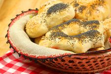 Free Bread Rolls In Basket Stock Image - 13552411