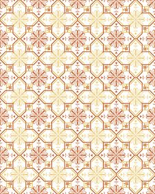 Free Beige Retro Seamless Flower Pattern Royalty Free Stock Photography - 13553177