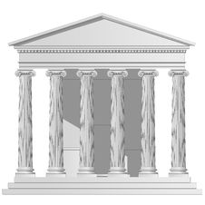 Free Temple Ionic Stock Photo - 13553310