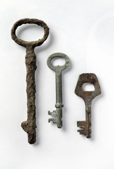 Free Isolated Vintage Rusty Key Royalty Free Stock Photos - 13553858