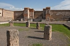 Ruins At Pompeii, Italy Royalty Free Stock Images