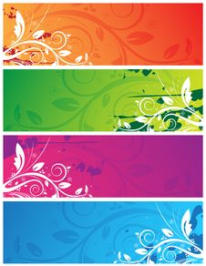 Free Floral Banners Stock Image - 13554171