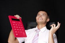Businessman With Calculator Stock Photos
