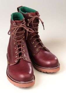 Free New Brown Work Boots Stock Photo - 13554660