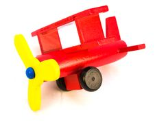 Red Toy Plane Royalty Free Stock Photo