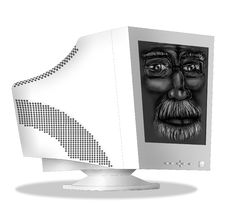 Old Monitor Royalty Free Stock Photos
