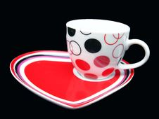 Free Cup On DEsigner Saucer Stock Photography - 13555342