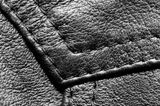 Free Black Leather. Stock Images - 13555914