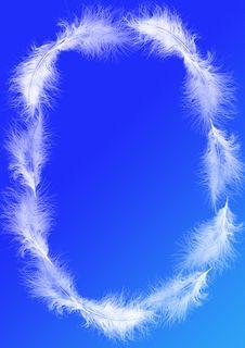 White Feathers - Oval Frame Stock Photos
