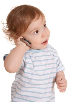 Free Little Boy Talking On The Phone Stock Images - 13556604