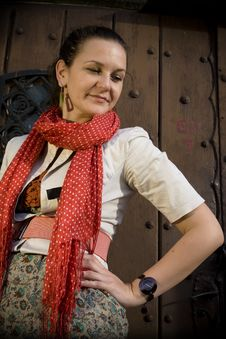 Free The Red Scarf 2 Stock Photo - 13557220