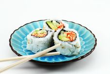 Free Sushi And CHopsticks Stock Photo - 13557740