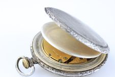 Free Old Silver Swiss Pocket Watch Stock Image - 13559001