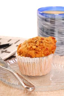 Free Banana Nut Muffin With Orange Juice Royalty Free Stock Photo - 13559585