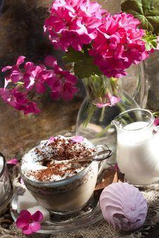 Grain And Coffee Cappuccino Stock Photo