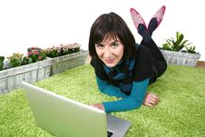 Free Woman And Laptop Royalty Free Stock Photography - 13559757