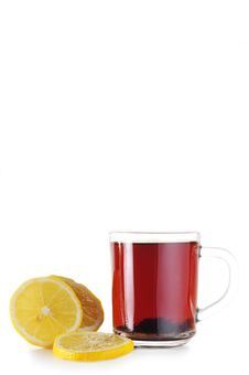 Cup Of Tea And  Lemon Stock Photo